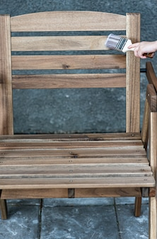 Painting of wooden furniture, protection from water