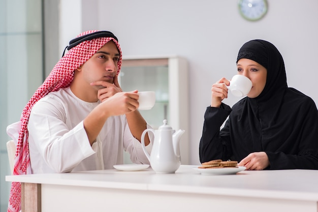 Pair of arab man and woman