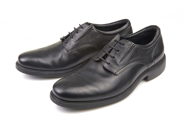 Pair of black male classic shoes