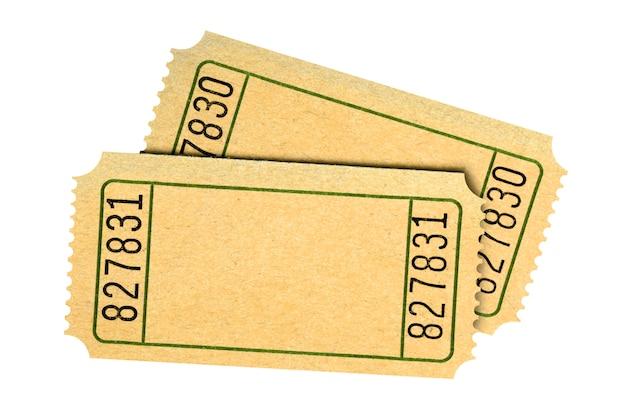 Пара пустых старых фильмов или лотерейных билетов изолированы