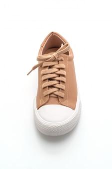 Pair of brown sneakers