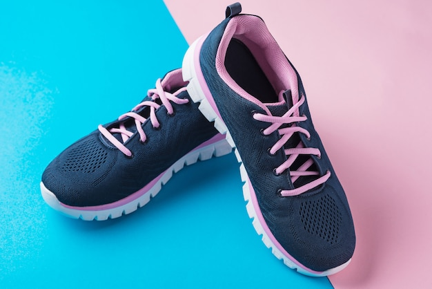 Pair of female sport shoes