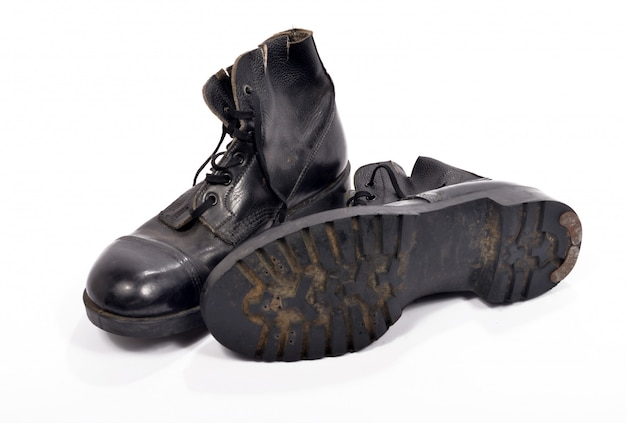 Pair of shoes of a british soldier