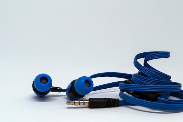 Pair of wired in ear earphones with colour toning