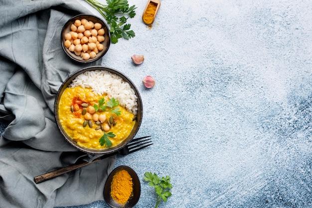 Пищевое расположение пакистана с копией пространства