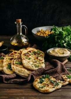 파키스탄 요리 어레인지 하이 앵글