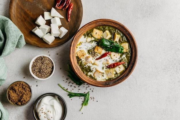 パキスタン料理の配置上面図