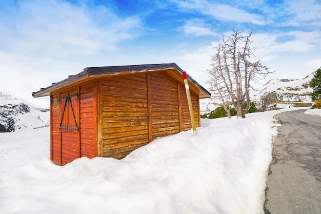 Pal snow house in andorra pyrenees