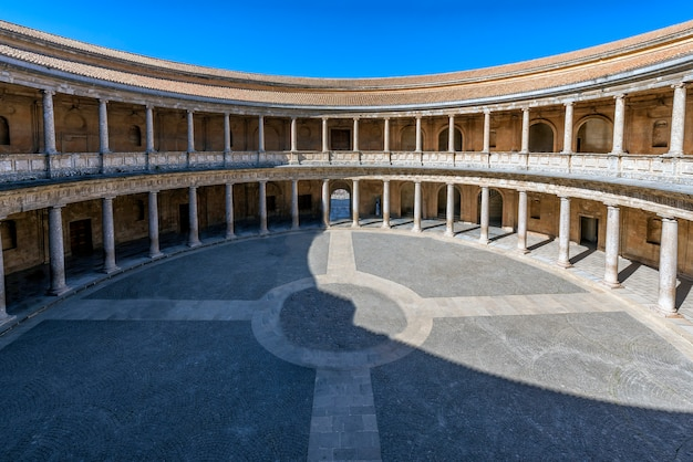 Palace of charles v in granda , located right next to the alhambra in granada