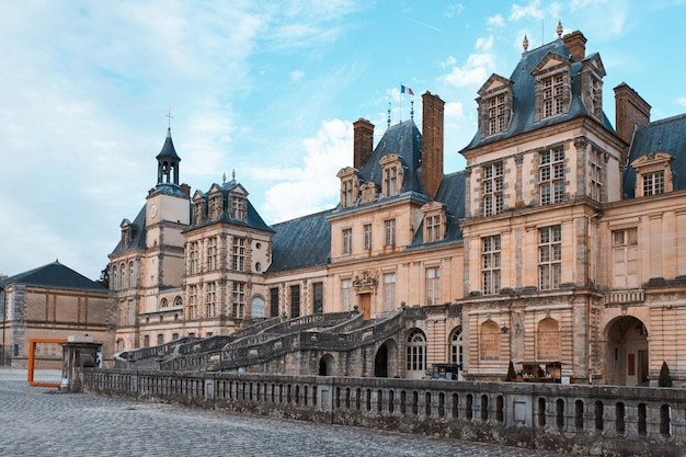 The palace of fontainebleau in france