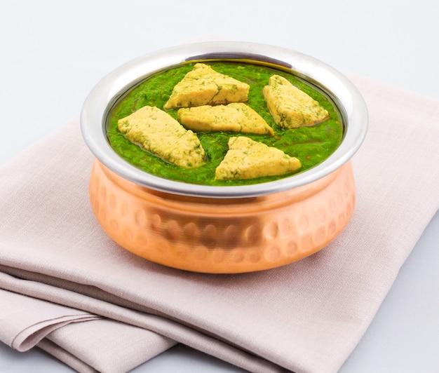 Индийская здоровая кухня palak paneer