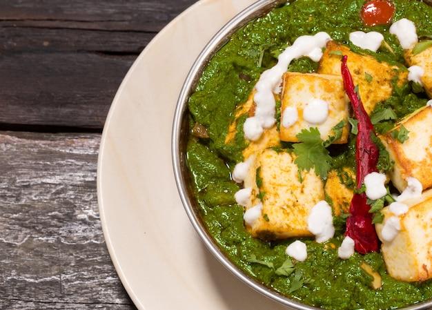 インドのパンジャブ料理palak paneer