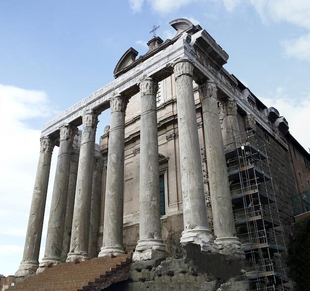 Palatino ruins in rome, italy