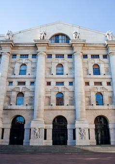Palazzo della borsa. exchange building, milan