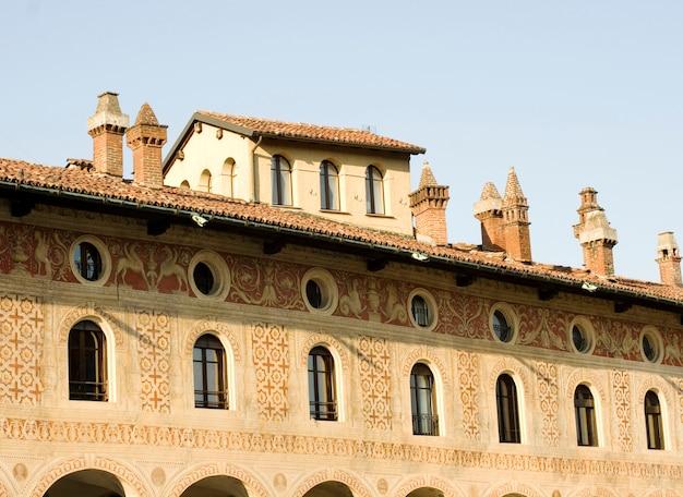 パヴィア、ヴィジェーヴァノのpalazzo ducale
