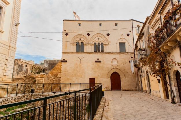 Palazzo montalto and magna grecia ruins, ortigia