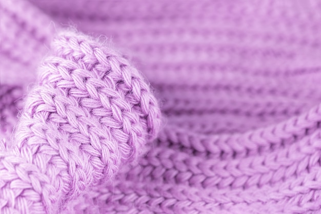 Pale soft violet purple pink knitted wool texture warm and cozy