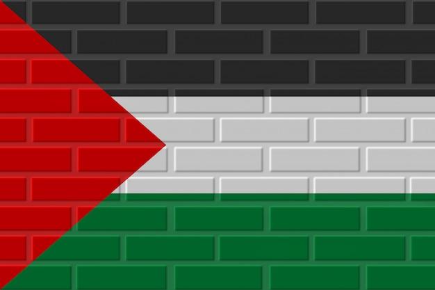 パレスチナのレンガの旗のイラスト