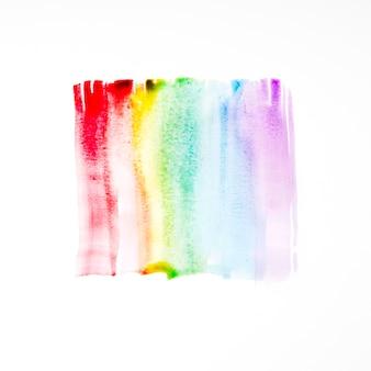 Palette of brushstrokes on paper