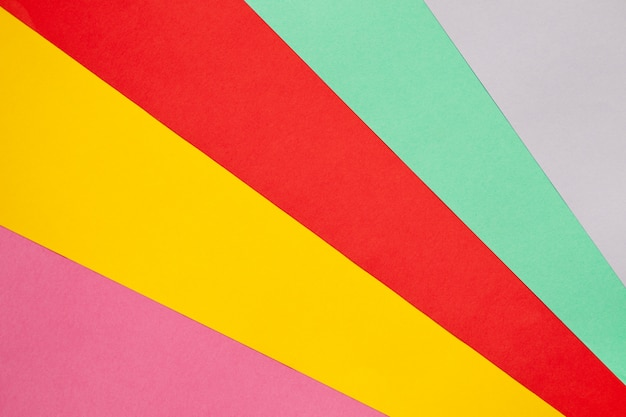 Palette of colored paper.