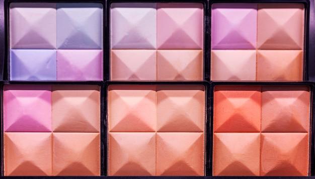 Palette of decorative cosmetics, close-up.
