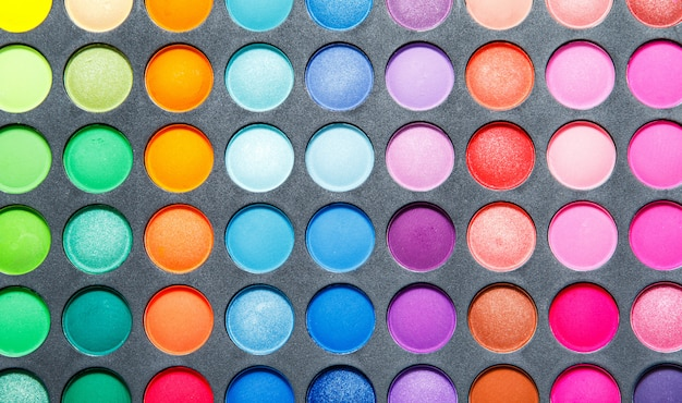 Palette with a multicolored eyeshadows