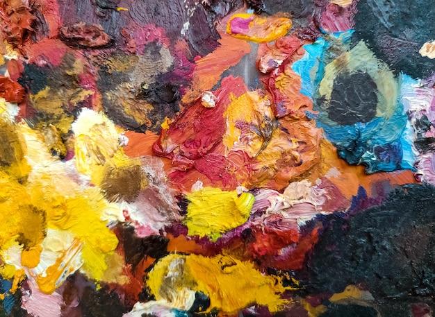 오일 페인트 팔레트 - 추상적 인 색 배경