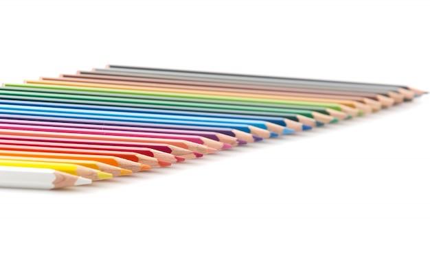 Palette wooden school row rainbow
