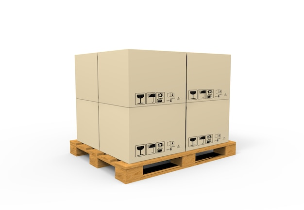 Pallet with boxes