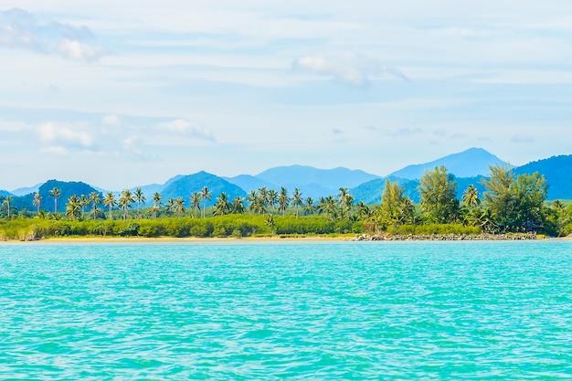 Palm andaman water virgin seascape