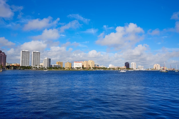 Palm beach skyline florida us