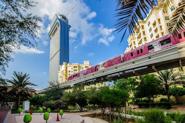 Palm island apartments, ittehad park and mono rail track ,palm jumeirah