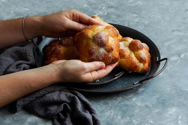 Pan de muerto or bread of the dead