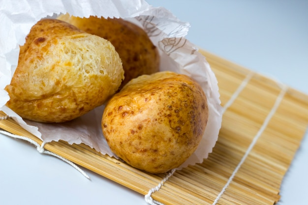 Pan de yuca or pao de queijo: traditional tapioca and cheese bread from south america