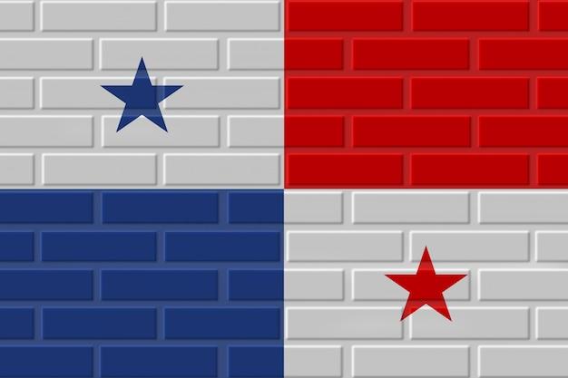 パナマのレンガの旗のイラスト