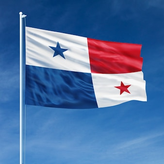Panama flag flying