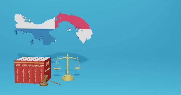 Закон панамы для инфографики, контента социальных сетей в 3d-рендеринге