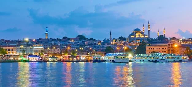 터키 이스탄불 구시가지의 파노라마
