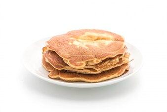 Pancake on white background