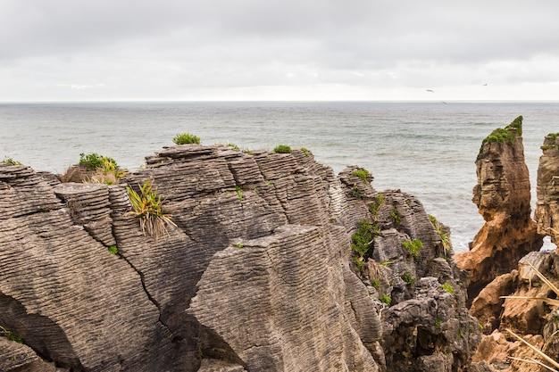 Pancake rocks peaked rocks 파파 로아 국립 공원 뉴질랜드 남섬