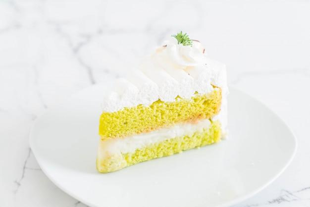 Pandas cake on plate