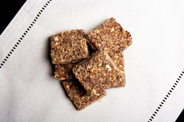 Крупным планом вид арахиса и panela sweet candy