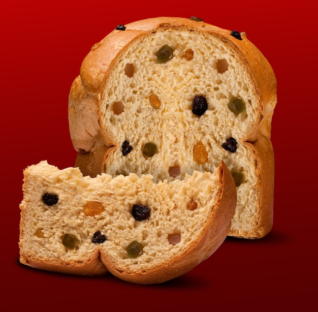 Panettone is the traditional italian dessert for christmas. chocotone.