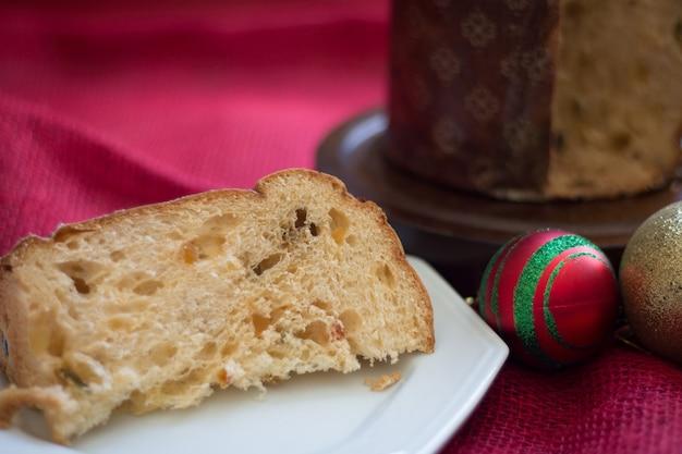 크리스마스를 위해 준비된 panettone