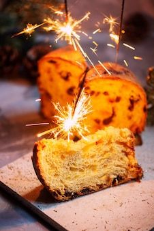 Panettone and sparklers