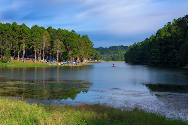 Pang oung lake (pang tong reservoir).