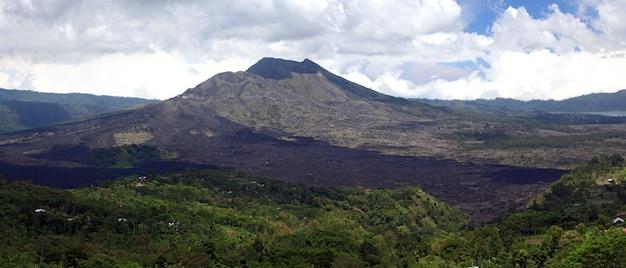 Panorama batur volcano indonesia