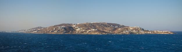 Panorama of delos island, cyclades, greek islands, greece.