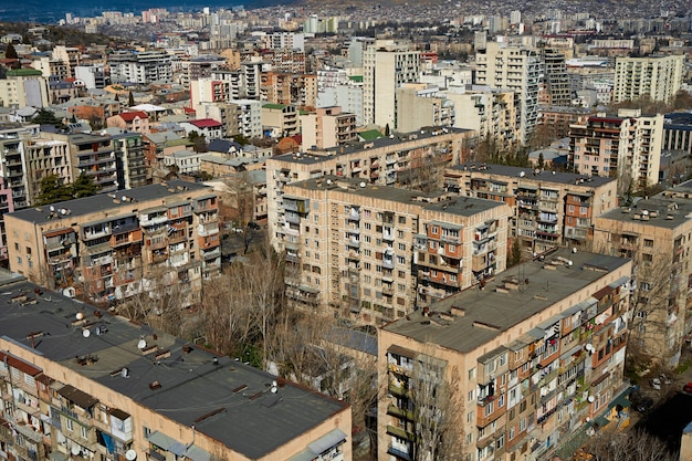 Panorama of a densely populated city