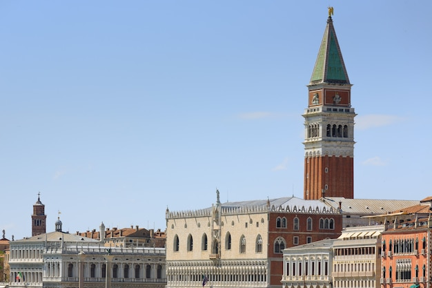 Panorama from venice, italy. famous italian landmarks. art and architecture